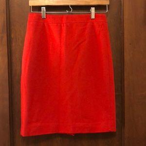 Jcrew wool red skirt